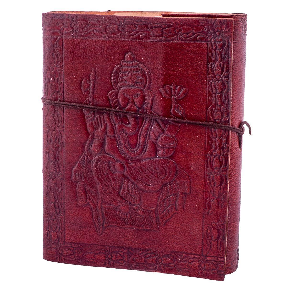 Kožený zápisník Ganéša India