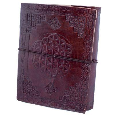 Kožený zápisník Kvet života | mini , malý, veľký