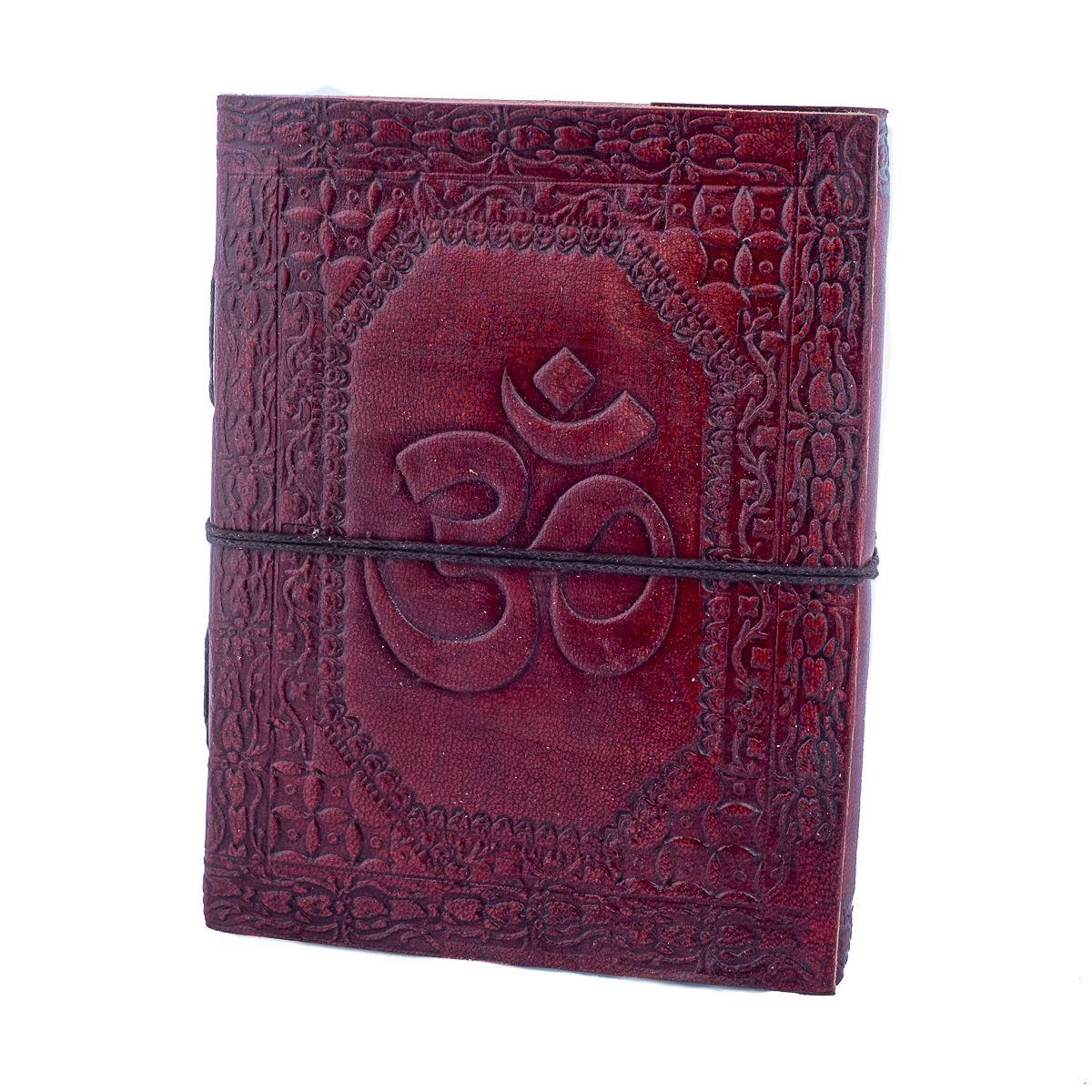 Kožený zápisník Óm India