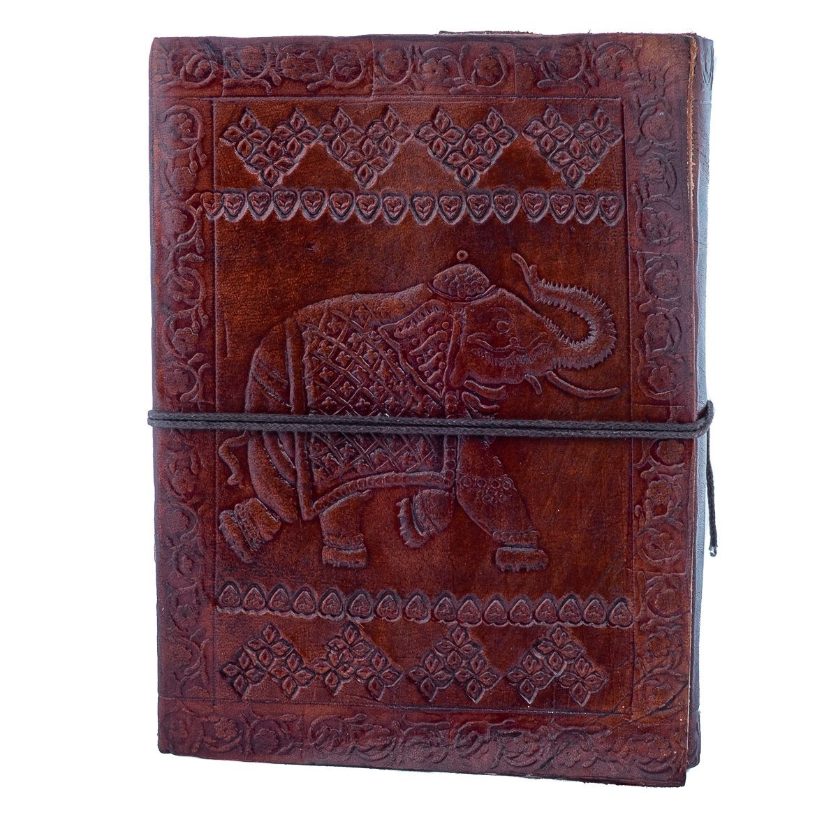 Kožený zápisník Slon India