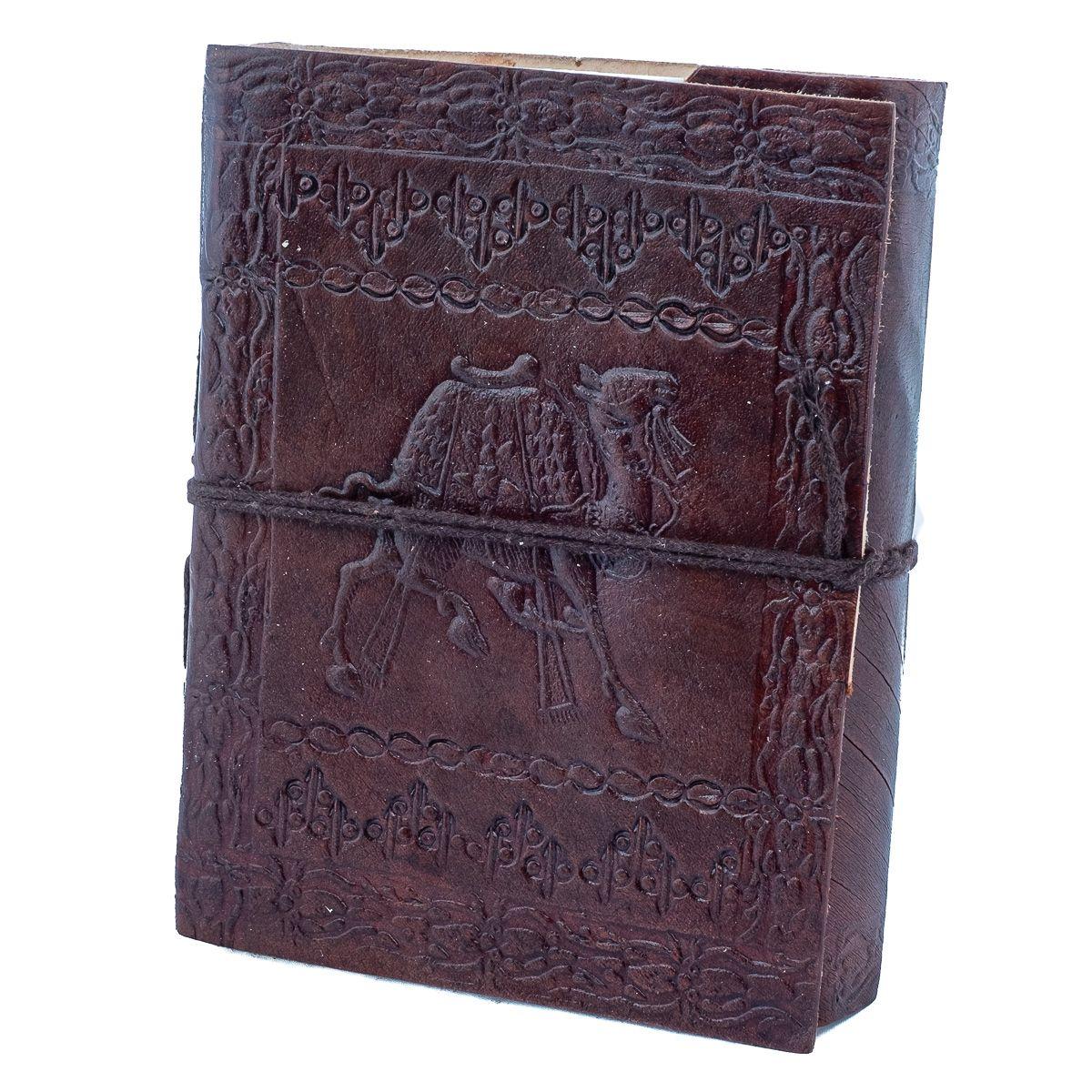 Kožený zápisník Ťava India