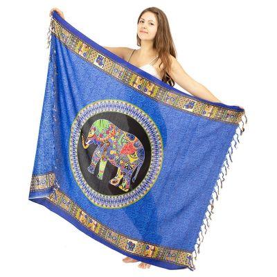 Sarong / pareo Slon modrý
