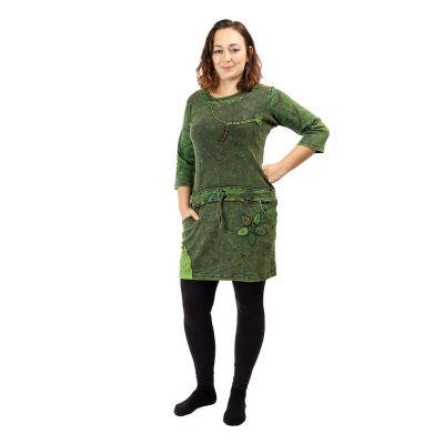 Bavlnené etno šaty Dori Hijau | S, M, L, XL, XXL