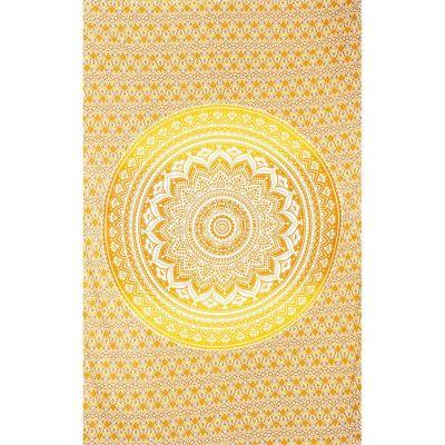 Prikrývka Mandala - béžovo-žltý