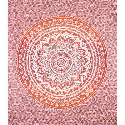 Prikrývka Mandala - červený