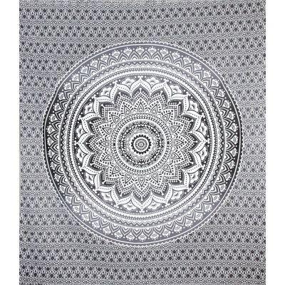 Prikrývka Mandala - sivý