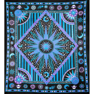 Prikrývka Vesmír - fialovo-modrý