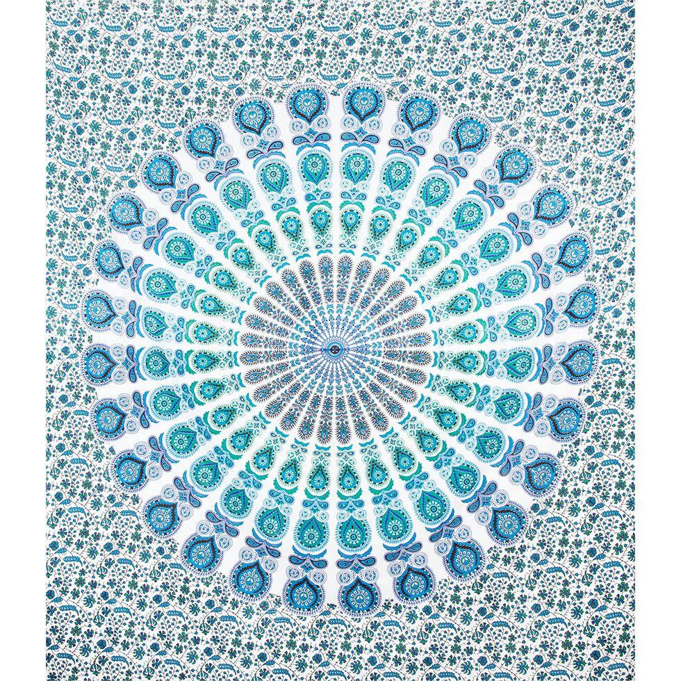 Bavlnený prehoz cez posteľ Veterná mandala India