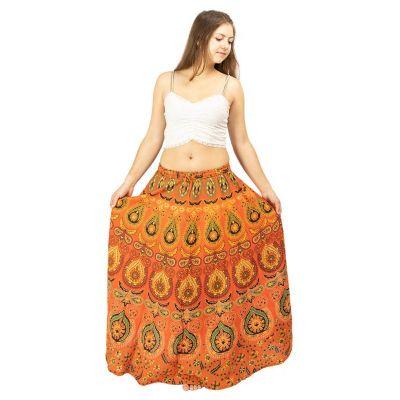 Dlhá kolesové sukne Arwen Orange | UNI