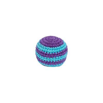 Háčkovaná loptička hekísek - Modro-fialový