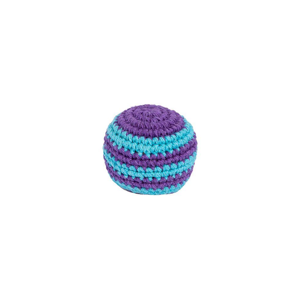 Háčkovaná loptička hekísek - Modro-fialový Nepal
