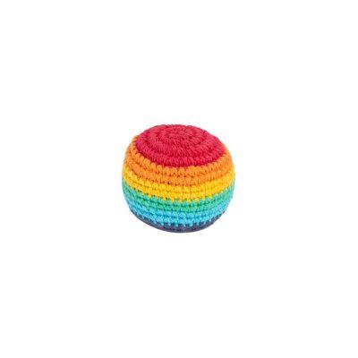 Háčkovaná loptička hekísek - Rainbow