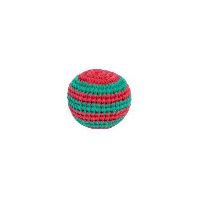 Háčkovaná loptička hekísek - Zeleno-červený