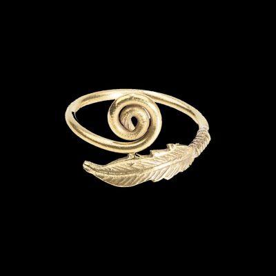 Mosadzný prsteň Oriana Brass