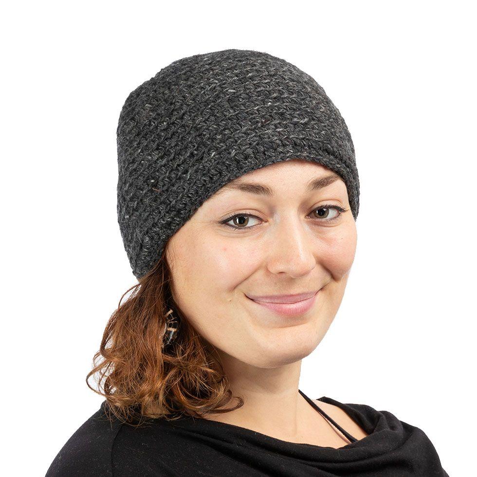 Vlnená čiapka Arna Dark Grey Nepal