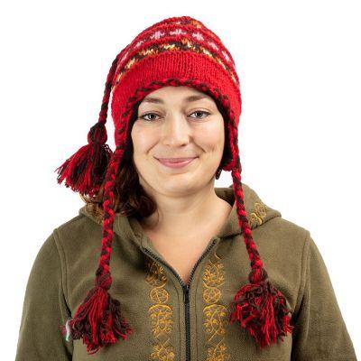 Vlnená čiapka Manaslu Red