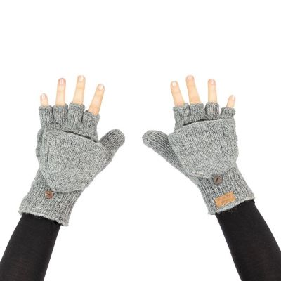 Vlnené odklápacie rukavice Butwal Medium Grey
