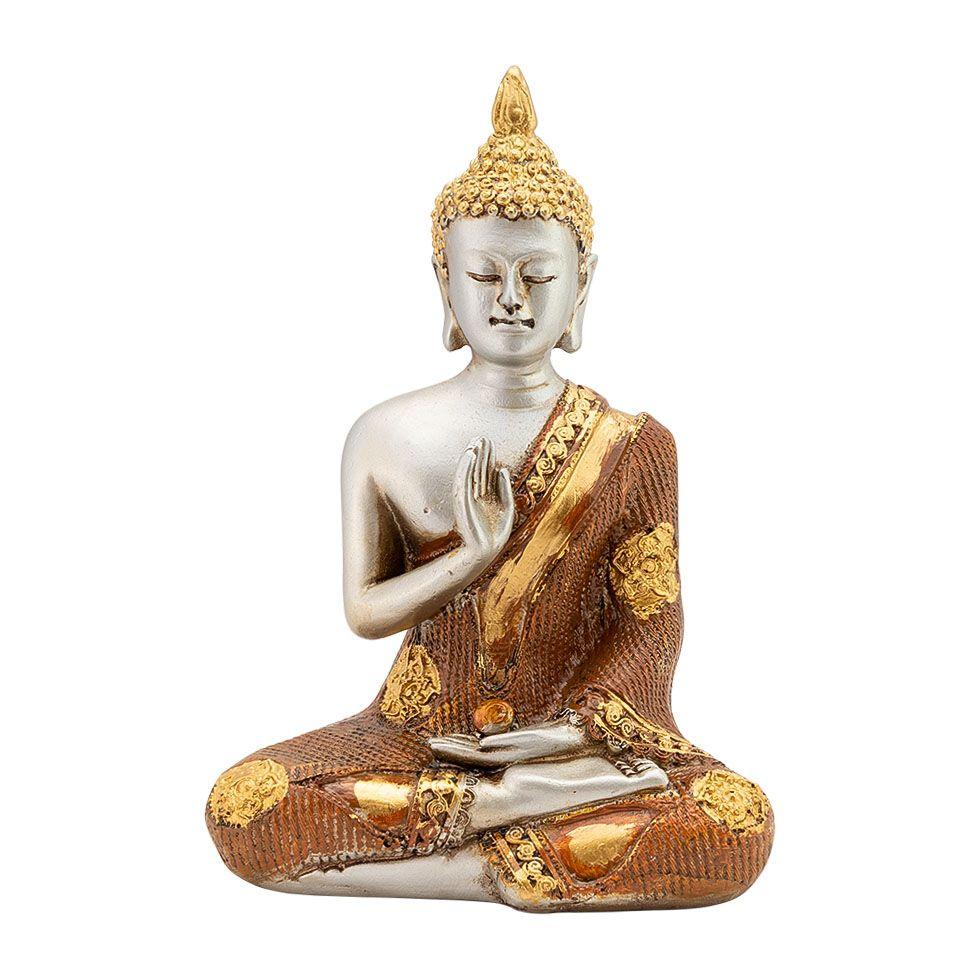 Zdobená soška zo živice Budha, učiteľ sveta India