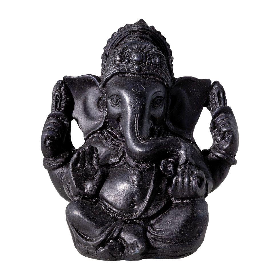 Zdobená soška zo živice Čierny Ganéša India