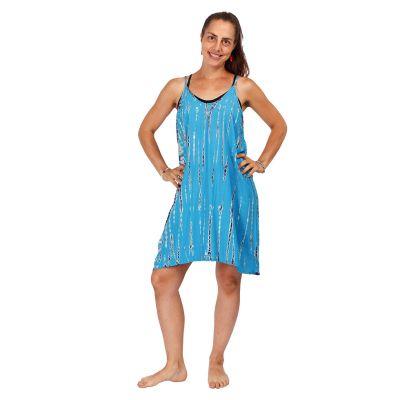 Batikované šaty Gajra Cyan | UNI