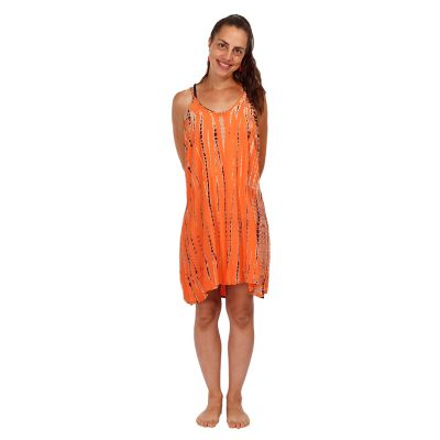 Batikované šaty Gajra Orange   UNI