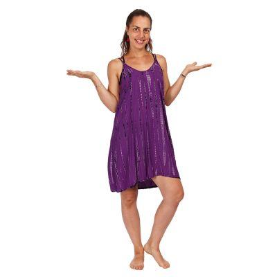 Batikované šaty Gajra Purple   UNI