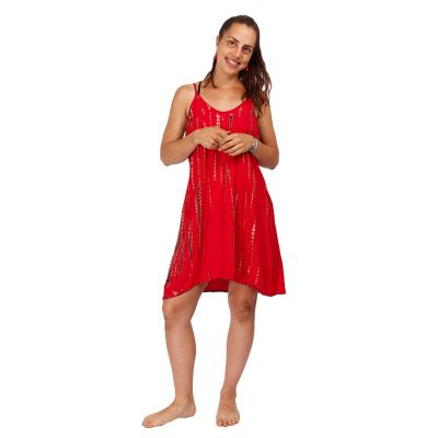 Batikované šaty Gajra Red   UNI