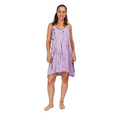 Batikované šaty Gajra Violet   UNI