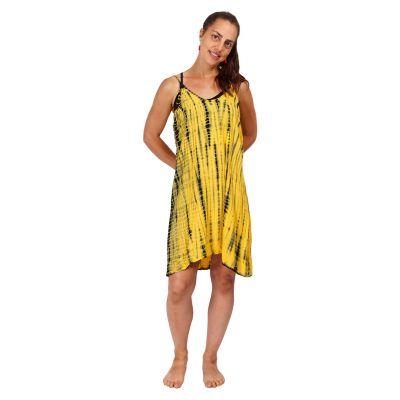 Batikované šaty Gajra Yellow   UNI