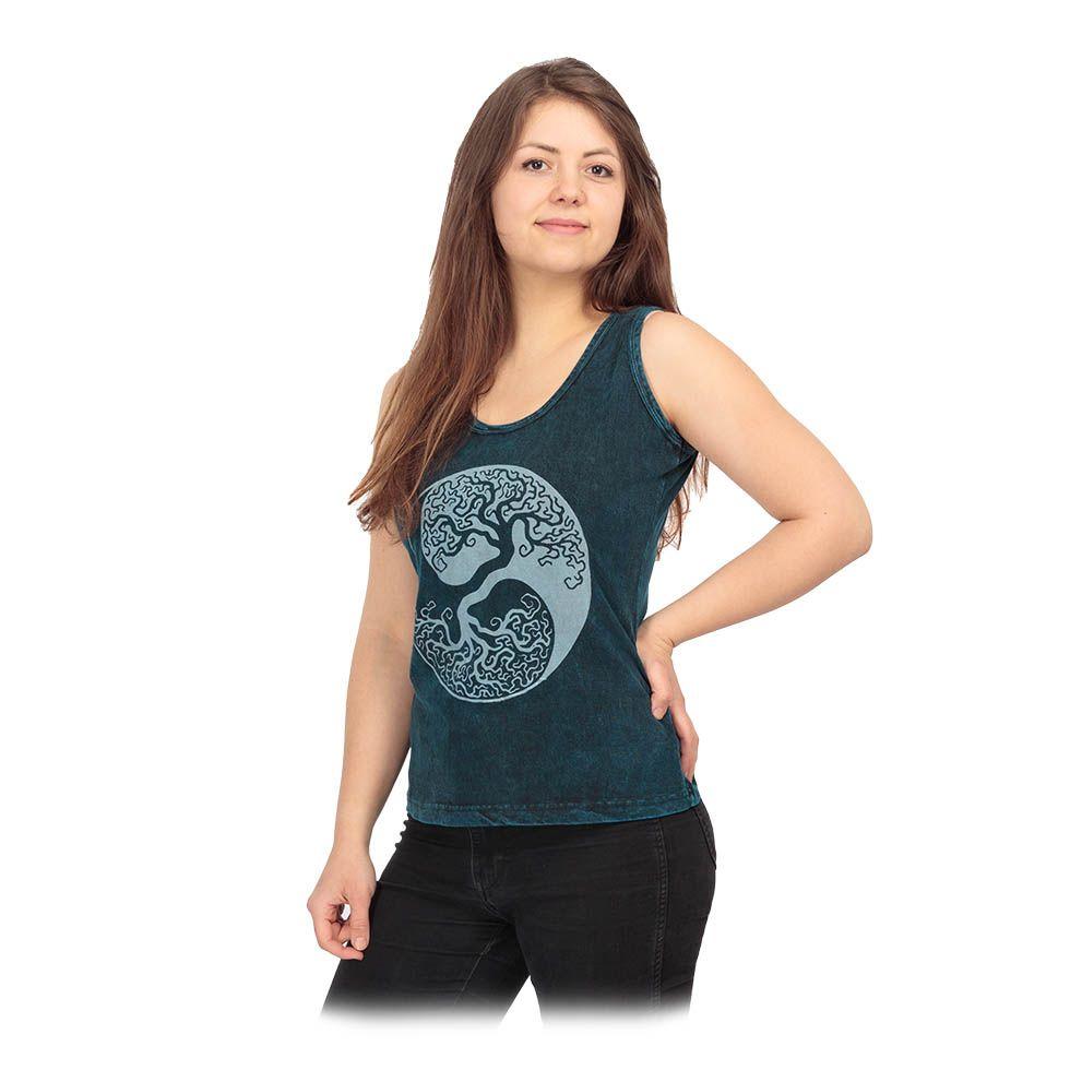 Dámske tielko Yin&Yang Tree Blue Nepal
