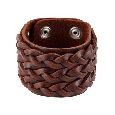 Kožený náramok Kelabang Brown | tmavý, svetlý