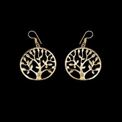 Mosadzné náušnice Tree of Fortune 2