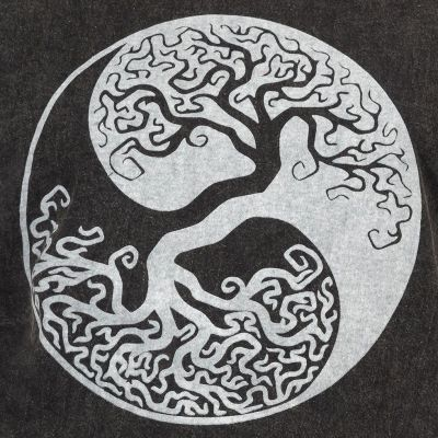 Pánske tričko Yin&Yang Tree Black Nepal
