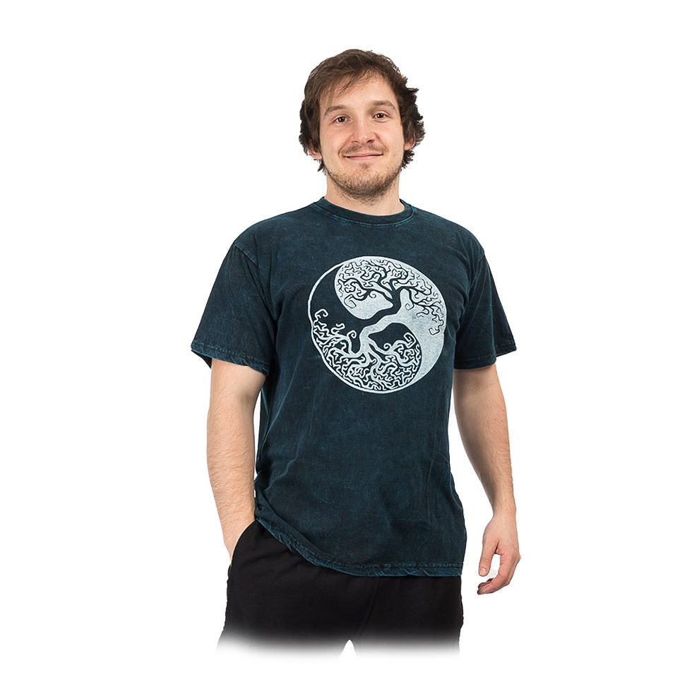Pánske tričko Yin&Yang Tree Blue Nepal