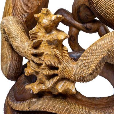 Ručne vyrezávaný drevený stolík Varani Indonesia
