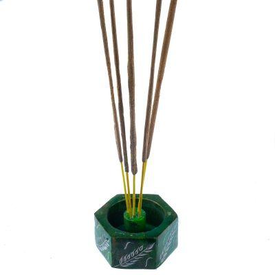 Stojan na vonné tyčinky Klasy - zelený