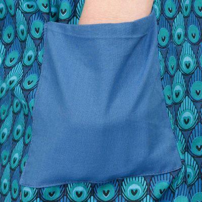 Trojštvrťové bavlnené nohavice Peacock India