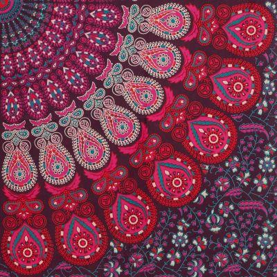 Bavlnený prehoz cez posteľ Čučoriedkový sen India