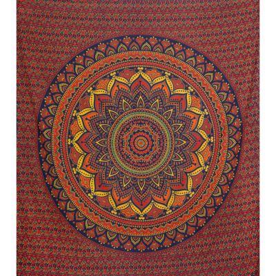 Bavlnený prehoz cez posteľ Lotosová mandala – veľký