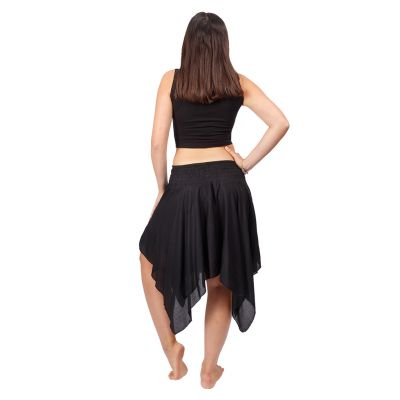 Cípatá sukňa s elastickým pásom Tasnim Black Nepal