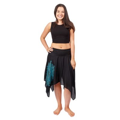 Cípatá sukňa s elastickým pásom Tasnim Black | S/M, L/XL