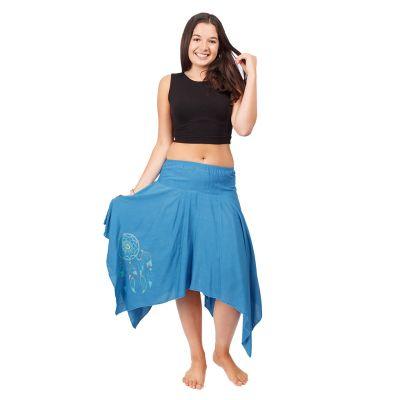 Cípatá sukňa s elastickým pásom Tasnim Blue | S/M, L/XL
