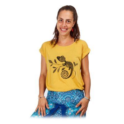 Dámske tričko s krátkym rukávom Darika Chameleon Yellow | UNI