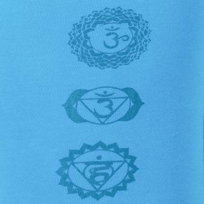Legíny s potlačou Chakras Blue Nepal