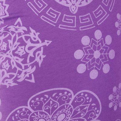 Legíny s potlačou Mandala Purple Nepal