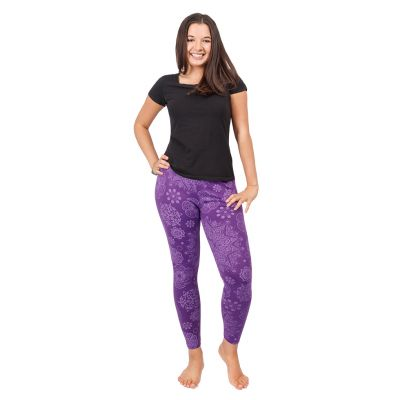 Legíny s potlačou Mandala Purple | S/M, L/XL