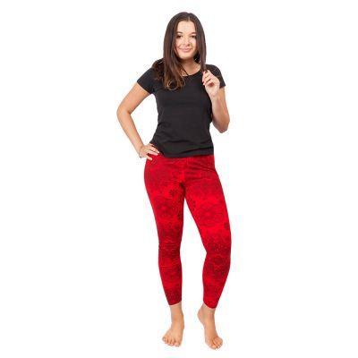 Legíny s potlačou Mandala Red | S/M, L/XL