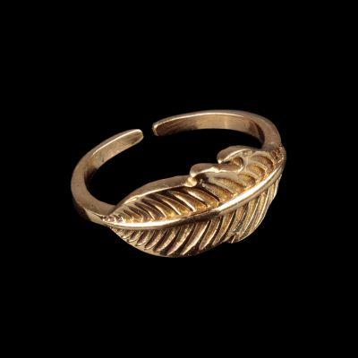 Mosadzný prsteň Little Feather