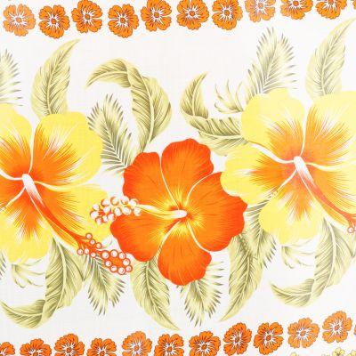Sarong / pareo Hibiscus Orange Thailand