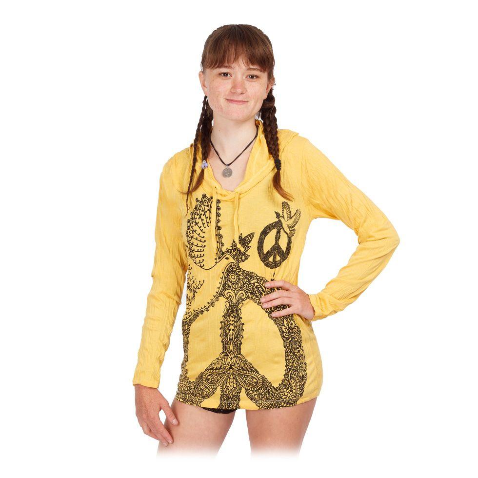 Tričko Sure s kapucňou Dove of Peace Yellow Thailand